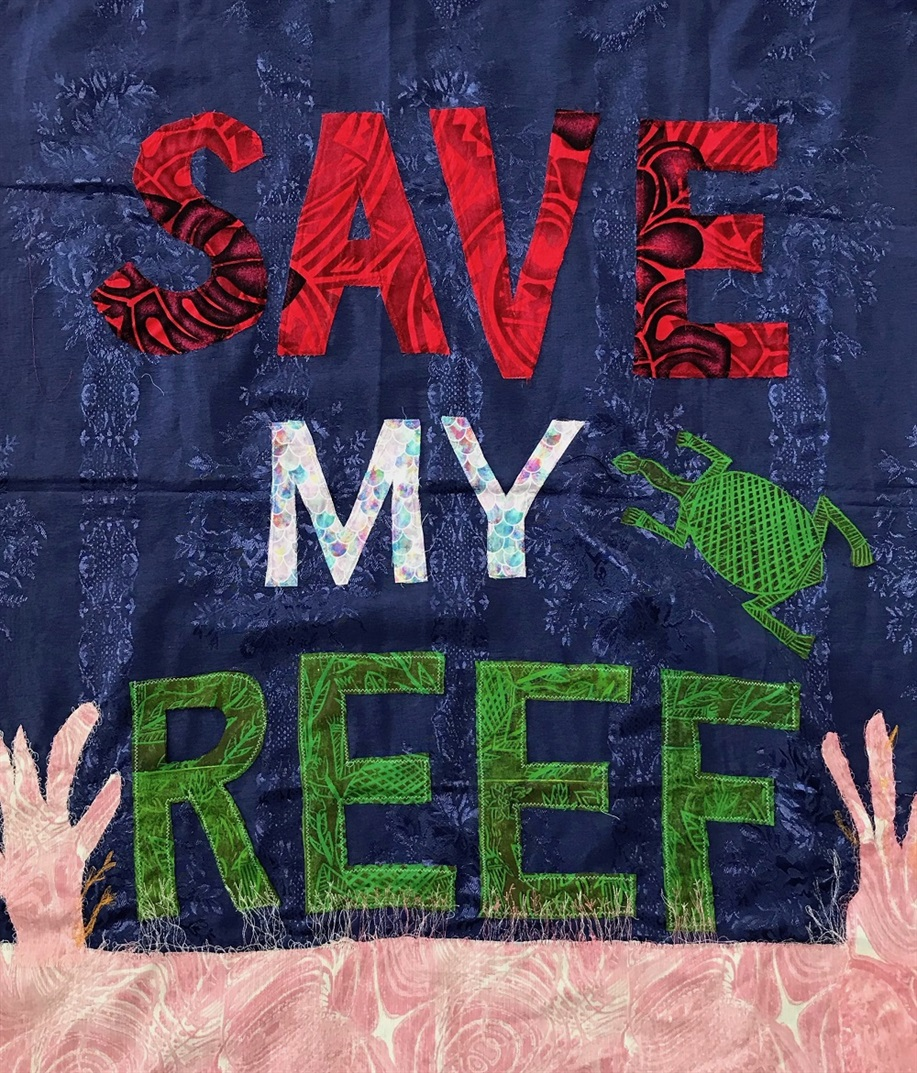 Caroline Phillips, Save My Reef, Mixed Media, 2018. Image courtesy of Tal Fitzpatrick